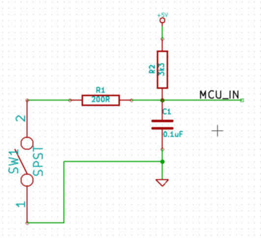 Low-pass filter with pullup